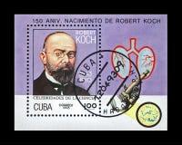 Scienziato di tubercolosi, esploratore Robert Koch, circa 1993, Cuba, circa 1993, immagine stock libera da diritti