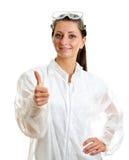 Scienziato femminile Fotografia Stock Libera da Diritti
