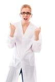 Scienziato femminile che sembra frustrato Immagini Stock