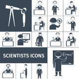 Scienziato Icons Black Royalty Illustrazione gratis