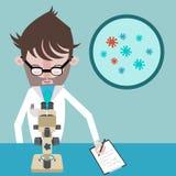 Scienziato in laboratorio fotografie stock