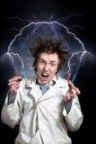 Scienziato pazzesco fotografie stock libere da diritti