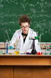 Scienziato pazzo Immagine Stock