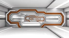 Футуристический SCIFI коридора Стоковое Изображение RF