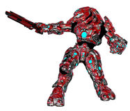 Scifi alien robot. 3D rendered scifi alien robot on white background isolated Stock Image