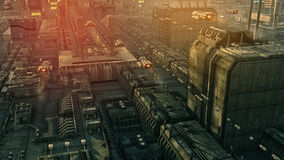 SCIFI city Stock Images