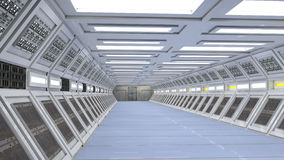 Scifi corridor Stock Images