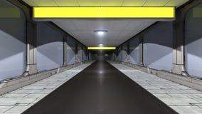 Scifi corridor. 3d scifi corridor and futuristic concept Stock Photography