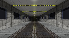 Scifi corridor Royalty Free Stock Photos