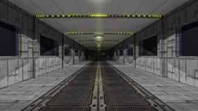 Scifi corridor. 3d scifi corridor and futuristic concept Royalty Free Stock Photos