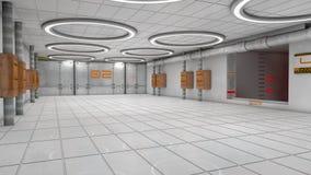 SCIFI futurista del pasillo Imágenes de archivo libres de regalías