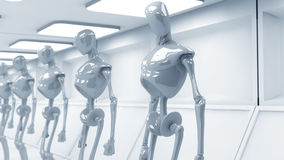 SCIFI futuristic robots Stock Photography