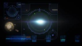 Scifi HUD иллюстрация вектора