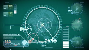 SCIFI HUD search scan royalty free illustration