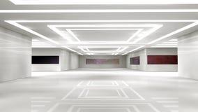 Scifi interior. 3d design. SCIFI futuristic  interior and illumination Royalty Free Stock Photos