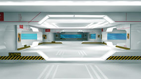 Scifi interior Royalty Free Stock Photos