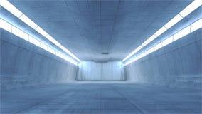 Scifi interior. 3d design. Modern and Futuristic scifi interior Stock Photos