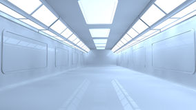 Scifi interior. 3d design. Modern and Futuristic scifi interior Royalty Free Stock Photography