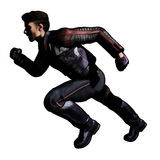Scifi man with jacket running Royalty Free Stock Photography