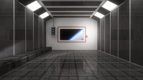 SCIFI-Raum und -raum Lizenzfreie Stockbilder