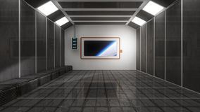 SCIFI Room and space. 3d SCIFI Room and space Royalty Free Stock Images