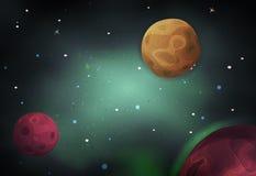 Scifi Ruimteachtergrond voor Ui-Spel Royalty-vrije Stock Fotografie