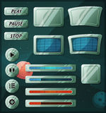 Scifi Space Icons For Ui Game vector illustration