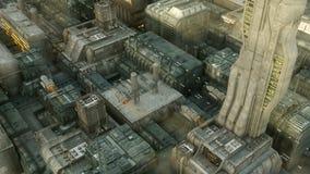 SCIFI-Stadt Lizenzfreie Stockfotografie