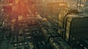 SCIFI-Stadt Stockbilder