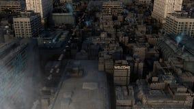 SCIFI-Stadt Lizenzfreie Stockbilder