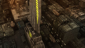 SCIFI-Stadt Stockfoto