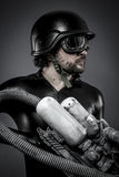Scifi.Starfighter με το τεράστιο τουφέκι πλάσματος, έννοια φαντασίας, milit Στοκ εικόνες με δικαίωμα ελεύθερης χρήσης