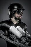 Scifi.Starfighter с огромной винтовкой плазмы, концепцией фантазии, milit Стоковые Изображения RF