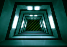 Scifi tunnel. 3d render of a sci-fi tunnel Royalty Free Stock Photos