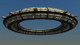 Scifi Ufo. 3d great scifi ufo and day illumination Royalty Free Stock Photography