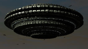 Scifi Ufo. 3d great scifi ufo and day illumination Stock Photos