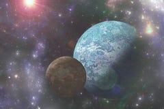 Scifi- und Fantasieuniversumillustration Stockfoto