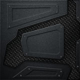 Scifi wall. black carbon fiber wall and black mesh. metal backgr Royalty Free Stock Photo