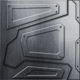 Scifi wall. metal background and texture 3d illustration. Technology concept Royalty Free Stock Photography