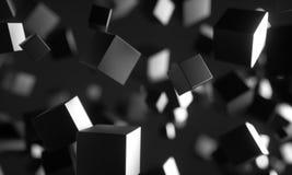 Scifikubussen in lege ruimte vector illustratie