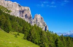 Sciliar山在意大利 免版税库存照片