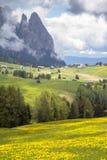 Sciliar в облаках, южный Тироль, Италия Стоковое фото RF