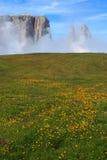 Sciliar в облаках Стоковое Изображение