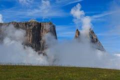 Sciliar в облаках Стоковые Фотографии RF
