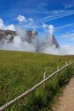 Sciliar в облаках Стоковое Фото