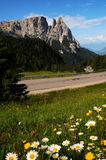 Sciliar от Seiser Alm Alpe di Siusi, доломитов, Trentino-альта Адидже Стоковая Фотография RF