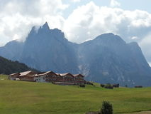 Sciliar-Berg in der Seifenlösung Tirol Lizenzfreie Stockfotografie