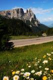 Sciliar da Seiser Alm Alpe di Siusi, dolomia, Trentino-Alto Adige Fotografia Stock Libera da Diritti