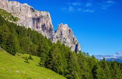 Sciliar mountain in Italy Royalty Free Stock Photos