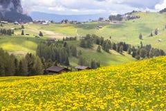 Sciliar nelle nuvole, Tirolo del sud, Italia Immagine Stock Libera da Diritti